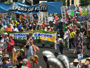Climate march on nation's Capitol draws keepers of faith