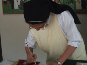 Lalani Ekanayaka paints sacred icon as aid to devotion